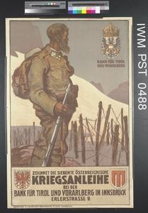 Zeichnet die Siebente Österreichische Kriegsanleihe [Subscribe to the Seventh Austrian War Loan]