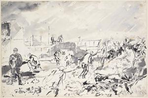 Acetylene Welding on the Beach, Normandy : June 1944