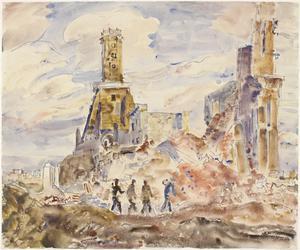 Calais: La Tour de Guet and the ruins of the Museum