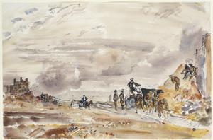 Calais Nord : 7th November 1944. Royal Engineers removing debris.