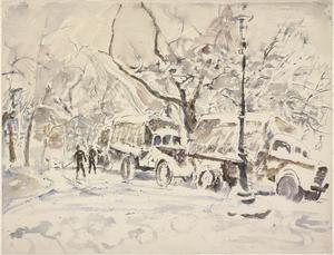 Trucks in Ostend: 3rd January 1945