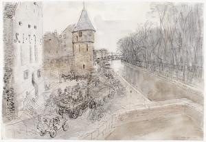 Gateways into Germany: Troops moving through Maastricht, Holland, October 1944