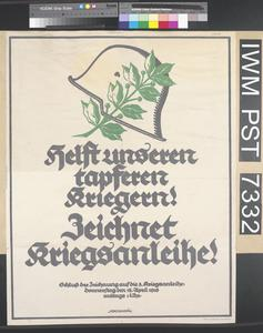 Helft unseren Tapferen Kriegern - Zeichnet Kriegsanleihe [Help our Courageous Fighting Men - Subscribe to the War Loan]