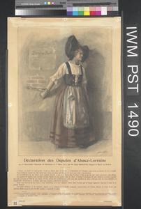 Déclaration des Députés d'Alsace-Lorraine [Declaration by the Representatives of Alsace-Lorraine]