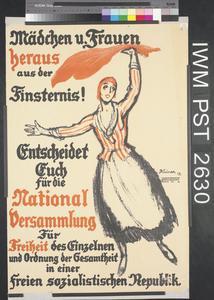 Mädchen und Frauen, Heraus aus der Finsternis! [Girls and Women, Emerge from the Darkness!]