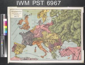 Momentaufnahme von Europa und Halbasien 1914-15 [Snapshot of Europe and the Adriatic 1914-15]