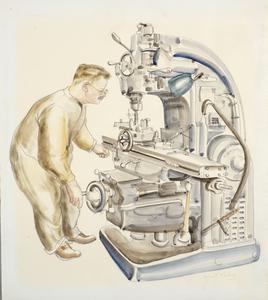 Machine-Milling Gun Parts, 1943