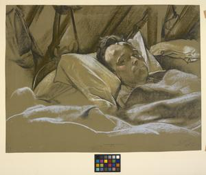 A Wounded Man In A Hospital Bed