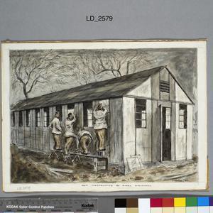 Royal Engineers Assembling Huts