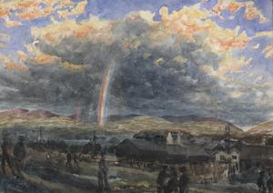 Storm and Rainbow, Symbol for Near End of War 1918