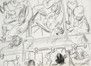 Sketch for 'The Nuremberg Trial' (LD5798)