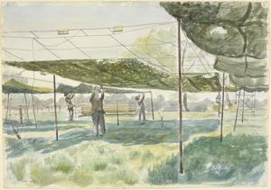 Testing Netting at a Camouflage Research Station, Leamington Spa, 1943