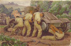 Canadian Troops replacing Track