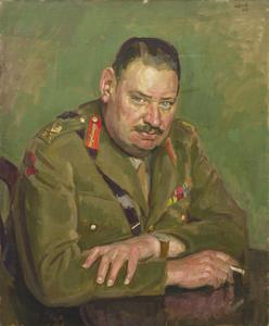 Major-General R F E Whittaker, CB, OBE, TD, AA Command, 1942