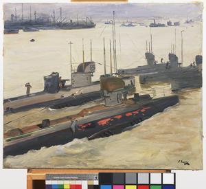British Mine-laying Submarines, Harwich, 1917
