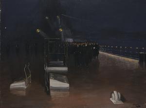 "The Arrival of the German Delegates : ""HMS Queen Elizabeth"", 15th November 1918. Night."