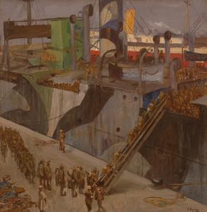 American Troops Embarking, Southampton, 1918