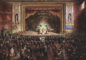 Sunday Divine Service in The Theatre Hall of Alexandra Palace 1916