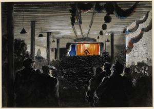 A Concert in a Shelter, St Pancras Borough