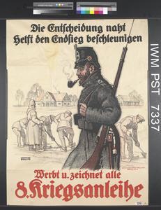 Werbt und Zeichnet alle Achte Kriegsanleihe [All Promote and Subscribe to the Eighth War Loan]