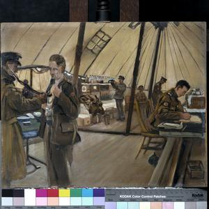 The RAMC in training, Blackpool : the medical inspection room and dispensary