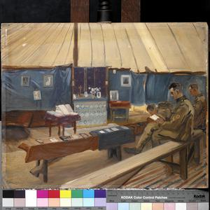 The RAMC in training, Blackpool : the Church of England Tent
