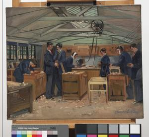The Queen's Hospital for Facial Injuries, Frognal, Sidcup : the carpenters' shop
