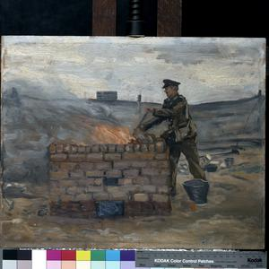 The RAMC in training, Blackpool : the depôt incinerator