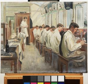 The Queen's Hospital for Facial Injuries, Frognal, Sidcup : the dental mechanics' class