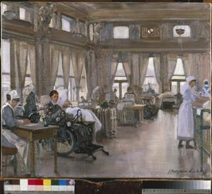 The Special Surgical Auxiliary Hospital at the 'Star And Garter', Richmond : the dining room