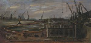 Sketch for 'London Docks' (LD4039)