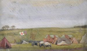 The Main Dressing-station of a Field Ambulance : Templeux-la-Fosse, 18th September 1918