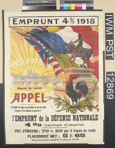 Emprunt Quatre pour cent 1918 - Pro Patria [Four percent Loan 1918 - For the Country]