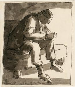 A Sketch of a Seated Figure