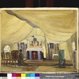 Church of England Marquee : 39th Stationary Hospital, Ascq