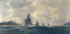HMS Superb : flagship of the Commander-in-Chief, Mediterranean, leading the British Fleet to Constantinople, November, 1918