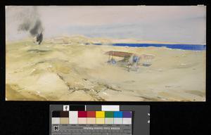 The Air Raid on el Arish, 18th June 1916. The Rescue of Captain Ryneveldt, RFC, by Captain S. Grant Dalton and Observer Paris.