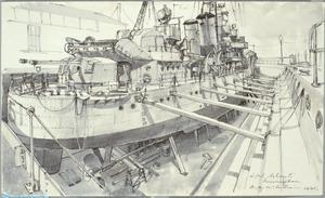 HMS Ashanti in Dry Dock at Immingham