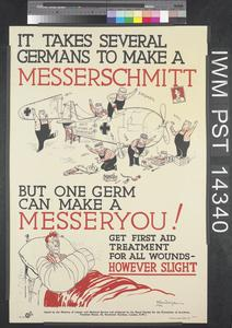 It Takes Several Germans to Make a Messerschmitt - But Only One Germ Can make a Messeryou!