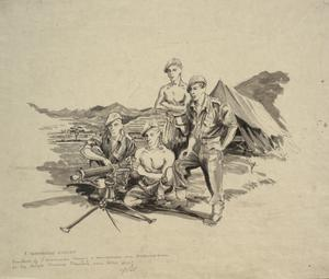 Members of the 5th Commando on the Anglo-Chinese Frontier near Hong Kong