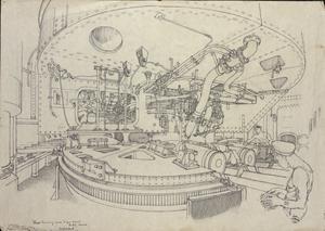 "Shell-handling Room : 'A' Gun Turret, ""HMS Anson"""