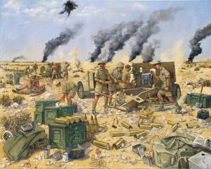 Guns of The 11th Field Regiment In Action With Robcol, Ruweisat Ridge, El Alamein July 1942