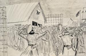 Sick Parade at a German Prison Camp in Pomerania, 1942