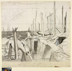 Study for Oppy Wood, 1917 (IWM ART 2243)