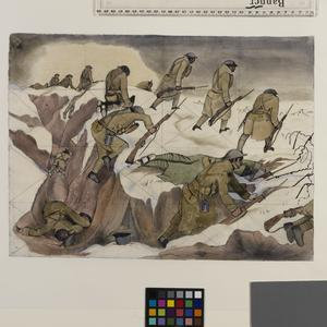 Study for 'Over The Top' (IWM ART 1656)