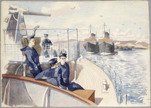 HMS Oracle at Anchor