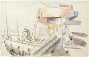 Study for 'Arming a Merchantman, North Dock'