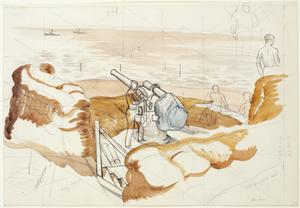 Study for 'Gun Emplacement'