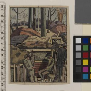 Sketch for Spring in the Trenches (IWM ART 1154)