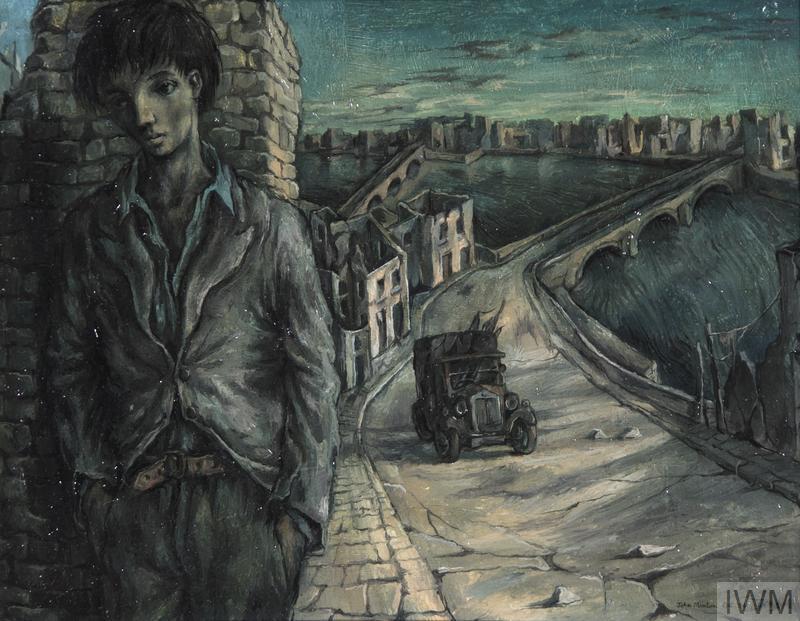 Blitzed City with Self-Portrait